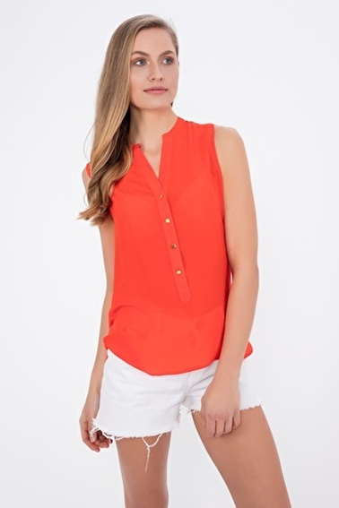 Silk and Cashmere Bluz Kırmızı